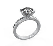 Diamond Wedding Ring Stock Photos