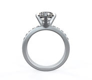 Diamond Wedding Ring Stock Image
