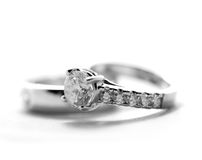 Diamond wedding rings Royalty Free Stock Image