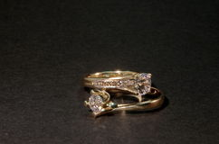 Diamond Wedding Rings fotos de stock