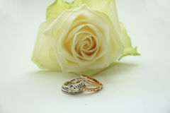 Diamond wedding sets Royalty Free Stock Photos