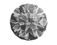 Diamond on white Royalty Free Stock Photo