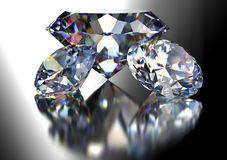 Diamond  on white background with clipping path.  Royalty Free Stock Image