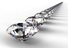 Diamond  on white background with clipping path.  Stock Photo