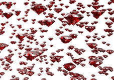 Diamond  on white background with clipping path.  Stock Photography