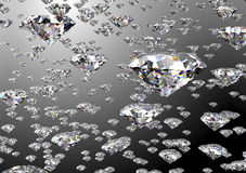 Diamond  on white background with clipping path Stock Images