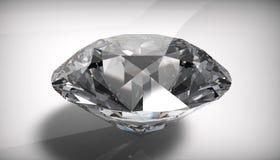 Diamond. White diamond on white background Stock Image