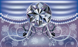 Diamond winter background Royalty Free Stock Images