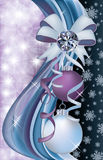 Diamond winter greeting banner. Illustration royalty free illustration