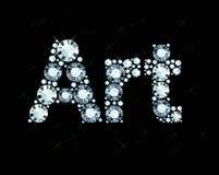 Diamond Word Art Photo stock