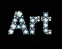 Diamond Word Art Stock Photo