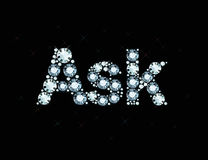 Diamond word ask Royalty Free Stock Image
