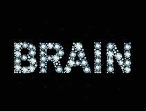 Diamond word brain Stock Photography
