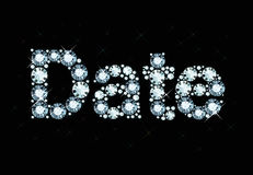 Diamond Word Date Stock Image