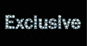 Diamond word exclusive Royalty Free Stock Images