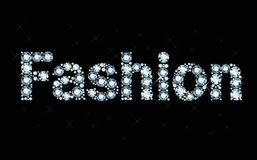 Diamond word fashion Stock Photos