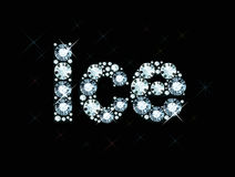 Diamond word ice Royalty Free Stock Photography
