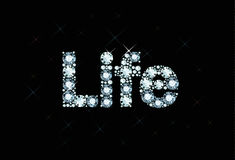 Diamond word life stock illustration
