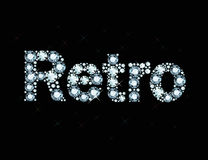 Diamond word Retro Royalty Free Stock Photography
