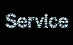 Diamond word service Royalty Free Stock Image