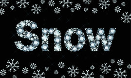 Diamond word snow Stock Photography