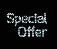 Diamond word special offer Stock Photo