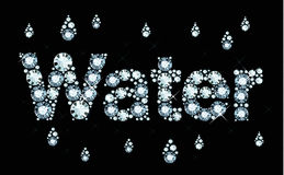 Diamond Word Water Stock Photo