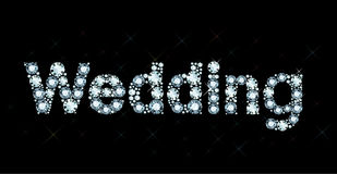 Diamond word wedding Stock Image