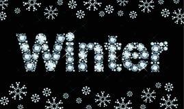 Diamond word winter Royalty Free Stock Photo