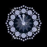 Diamond xmas clock, vector Stock Image