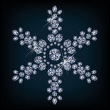 Diamond xmas snowflake card Stock Photos