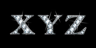 Diamond X, Y, Z Stock Photo