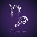 Diamond zodiac Capricon Royalty Free Stock Image