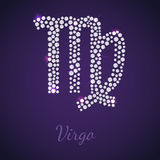 Diamond zodiac Virgo Royalty Free Stock Photography