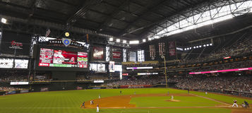 A Diamondbacks Giants Game at Chase Field. Phoenix, Arizona - June 9: Chase Field on June 9, 2013, in Phoenix, Arizona. An Arizona Diamondbacks - San Francisco Stock Images