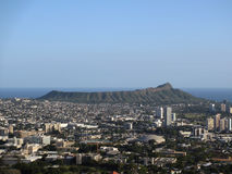 Diamondhead and the city of Honolulu of Oahu Royalty Free Stock Images
