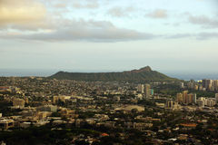 Diamondhead and the city of Honolulu on Oahu on a nice day Stock Photography