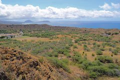 Diamondhead crater with Koko Head in the distance Royalty Free Stock Photo