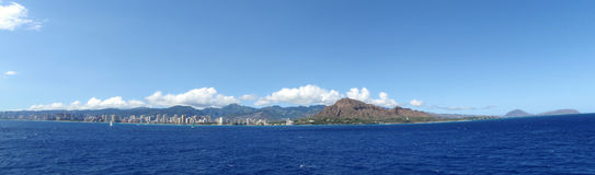 Diamondhead and the Southern Coast of Oahu Stock Photography