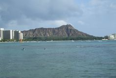 Diamondhead van Waikiki-Strand Stock Foto