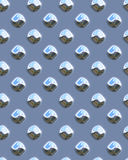 Diamondplate brillant bleu de point Photographie stock