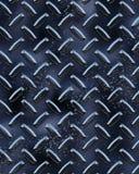 Diamondplate lucido nero Immagini Stock