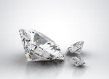 Diamonds. Different sizes of  on white Royalty Free Stock Image