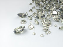 Diamonds. On white background; quality 3d render Stock Photography