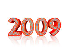 Diamonds 2009. 2009 year with shining diamonds Stock Images