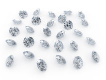 Diamonds. 3d illustranion of diamond jewels on white background Vector Illustration