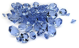 Diamonds. Render of a group of diamonds Royalty Free Stock Photography
