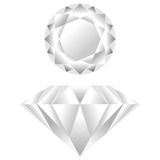 Diamonds. Diamond seen from different perspectives over white background Stock Images