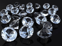 Diamonds. Many diamonds on a plane Royalty Free Stock Images