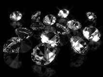 Diamonds. Mani diamonds on a table Royalty Free Stock Images